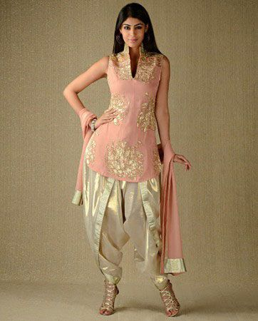 punjabi suits neck design 2014 party wear new fasion