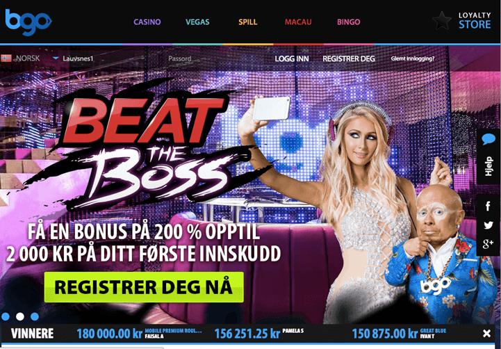 MAXCASINO er en velkomstbonus på 200% + 180 gratis spins fra BGO Casino for alle nye spillere. En virkelig bra måte å si velkommen! - fra oss!
