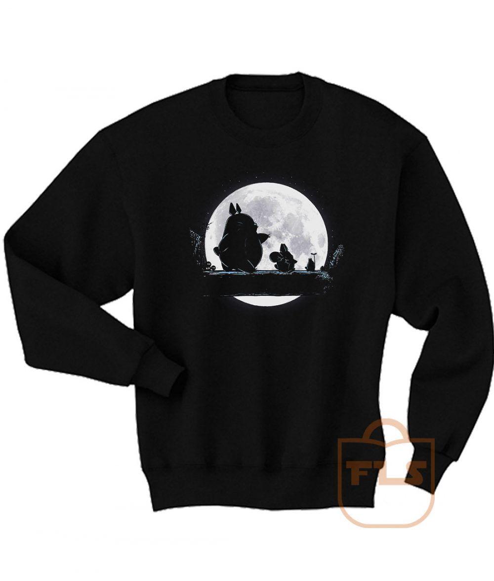 Totoro Moon Walk Sweatshirt Men Women Ferolos Com Sweatshirts Mens Sweatshirts Women [ 1176 x 1000 Pixel ]