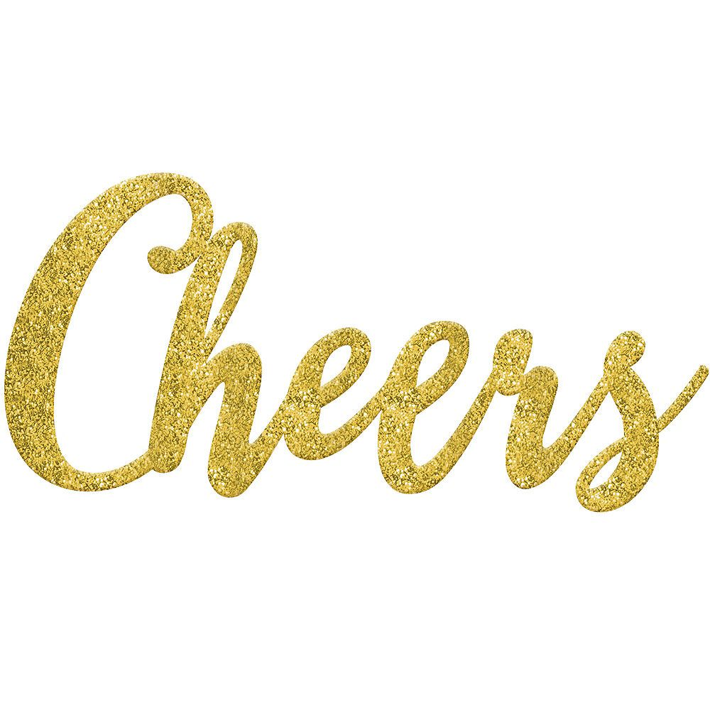 """Amscan /""""Cheers/"""" Rose Gold Script Phrase Foil Balloons"""