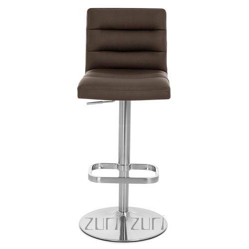 Lush Adjustable Height Swivel Armless Bar Stool | Zuri Furniture
