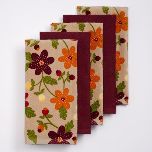 The Big One Floral Kitchen Towel 5 Pk Kitchen Towels Towel
