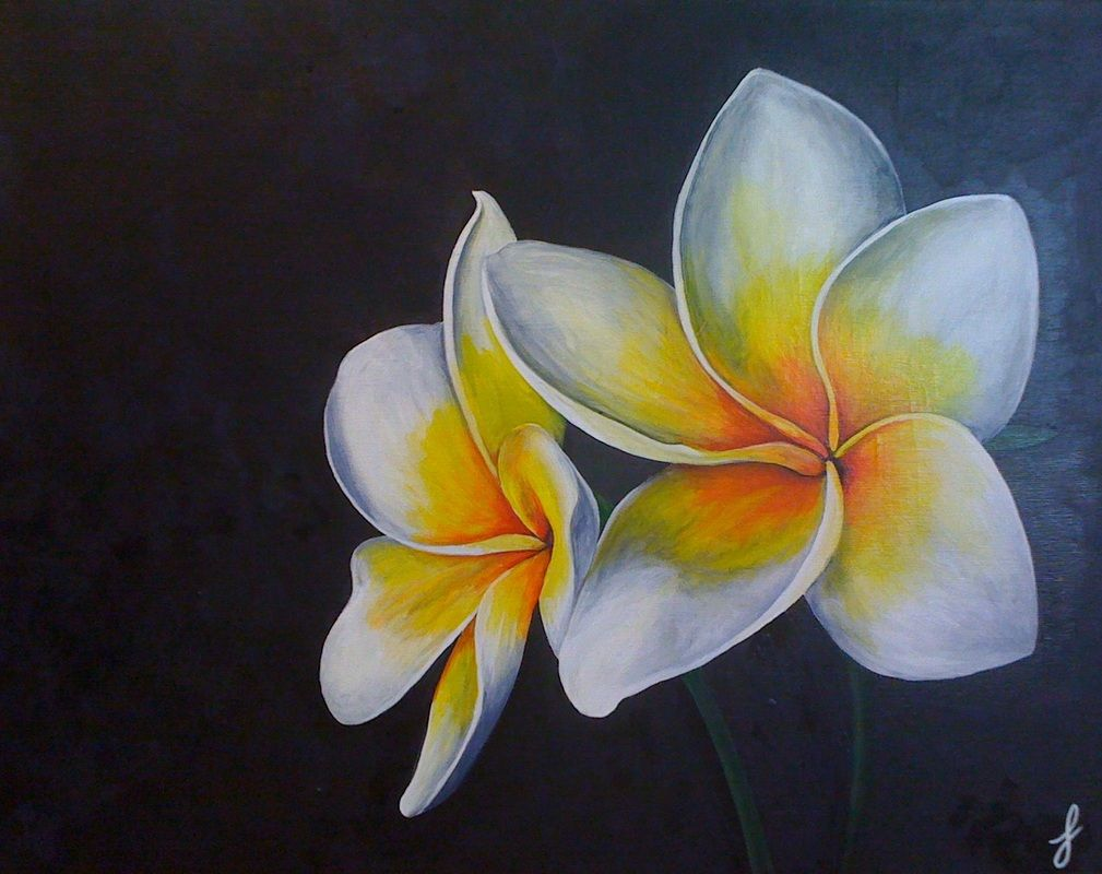 Plumeria Painting My Painting Pinterest Paintings