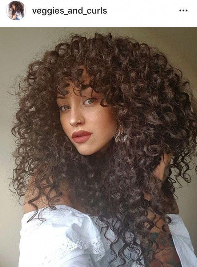 Curly Natural Hair And Bangs Curlshairstyletips Curly Hair Styles Naturally Curly Hair Styles Curly Hair Inspiration