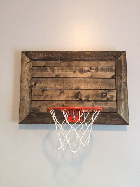 Faux Pallet Designed Basketball Goal DIY Wall DecorGreat for Rustic Decor, Basement, Office or Child's Sports Room  FramedCHOOSE SIZE is part of Office decor For Men - mini5rubberbasketballsmallball ref shop home active 43 Follow me on Instagram tpewoodworking Like me on Facebook TPE Woodworking