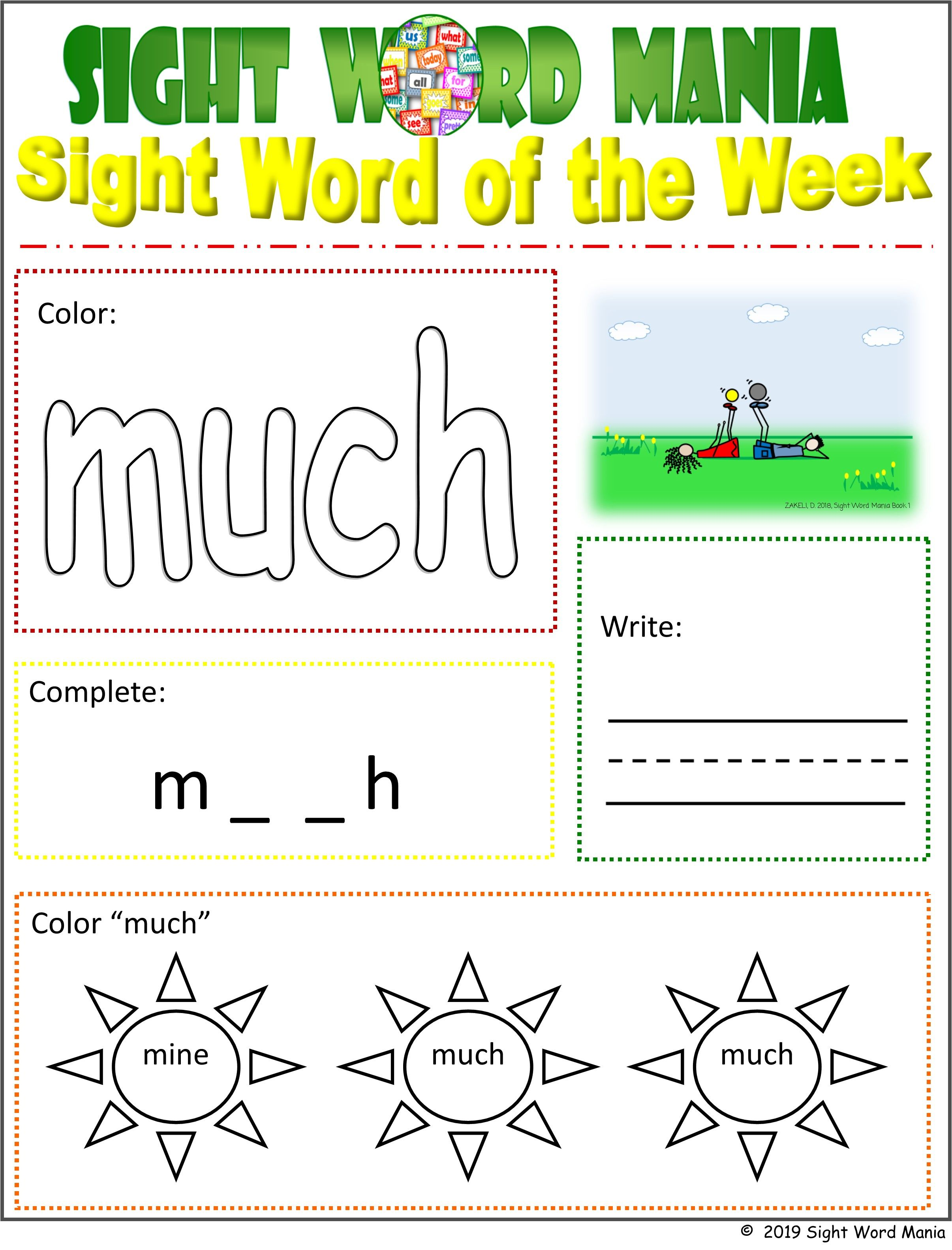 Our Printable Fry S And Dolch Sight Word Activity