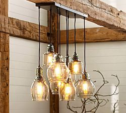 Paxton Glass Light Pendant Pottery Barn And Pendant Lighting - Kitchen pendant lighting pottery barn