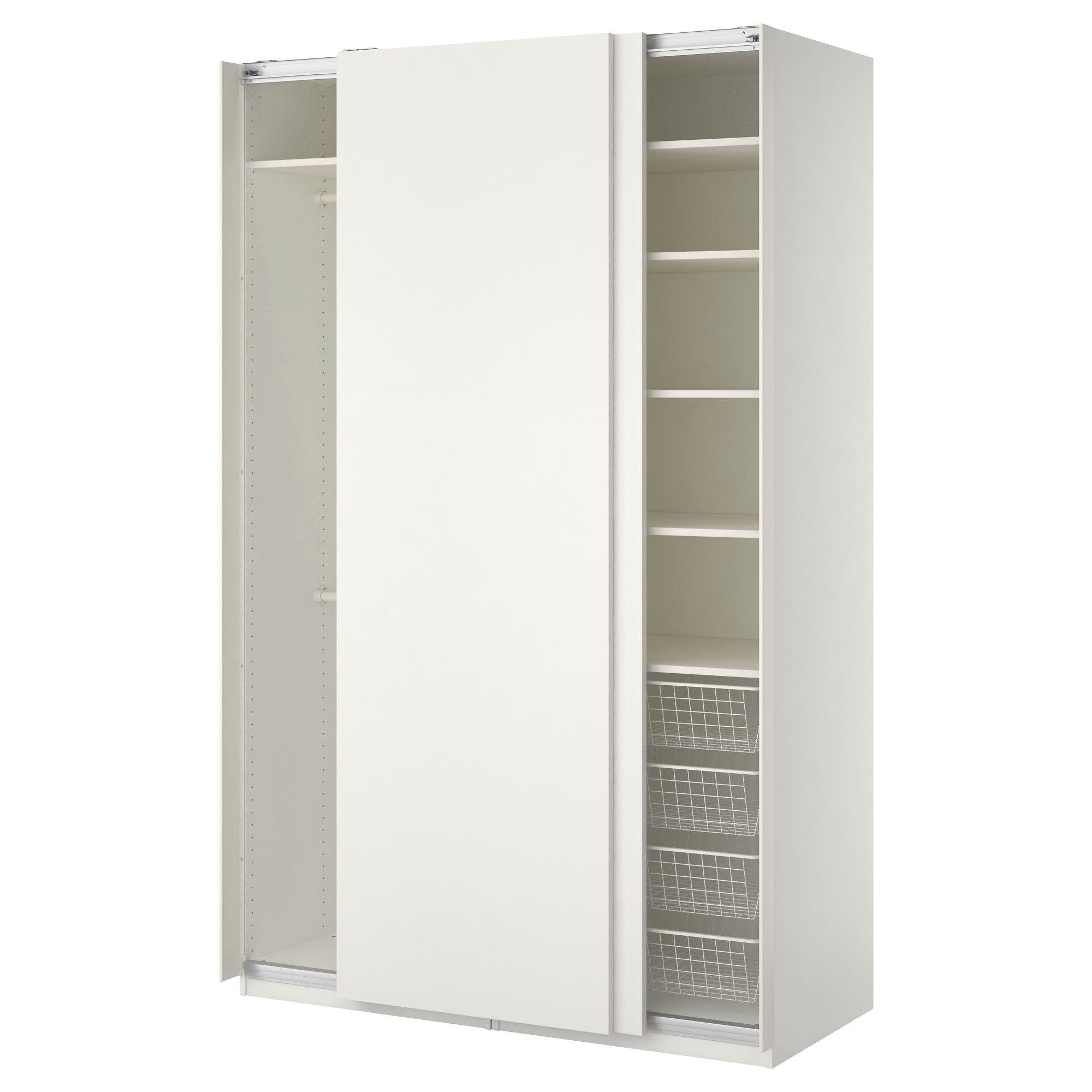 MORVIK Armoire penderie blanc miroir IKEA