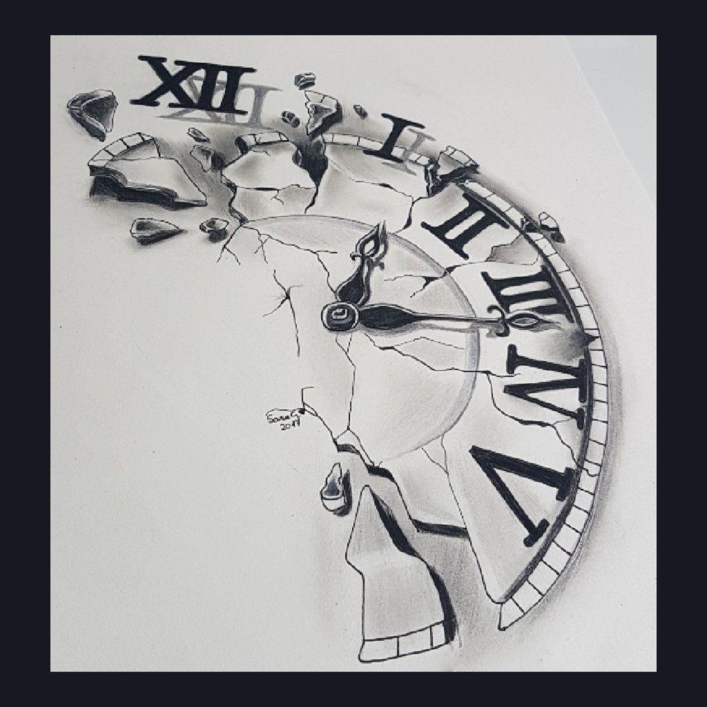 13++ Stunning Broken clock tattoo sketch ideas in 2021