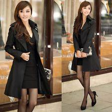 Abrigo Abotonadura Mujer Korean Doble Fashion Gabardina y80vmnwON