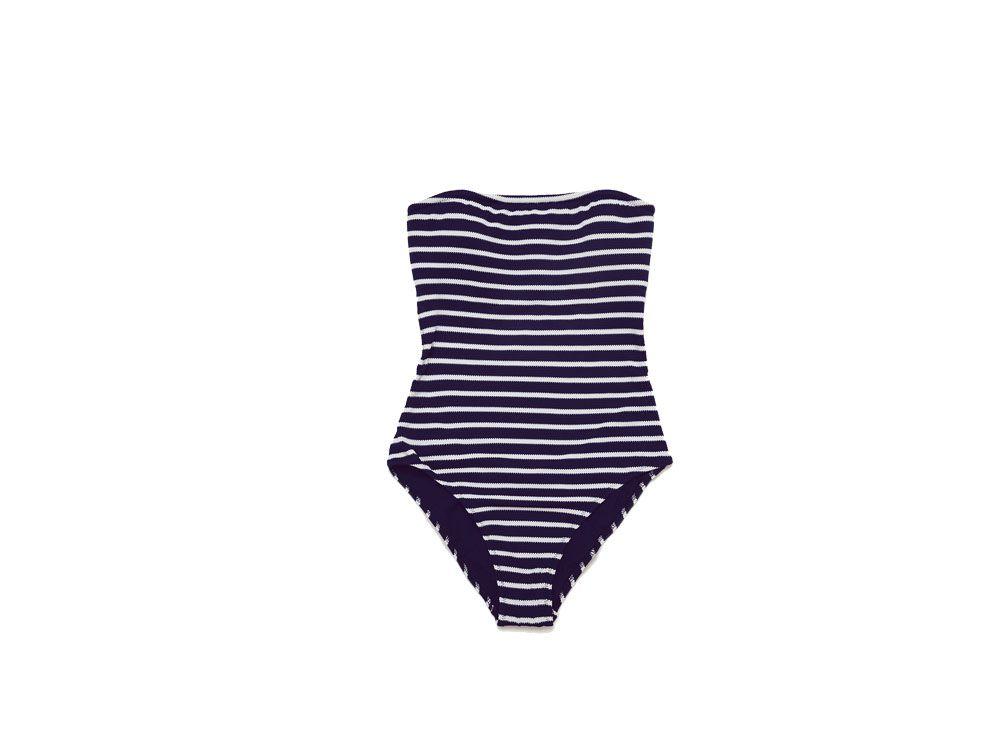Bagno Moda ~ Costume intero a righe zara spiaggia pinterest costumi da