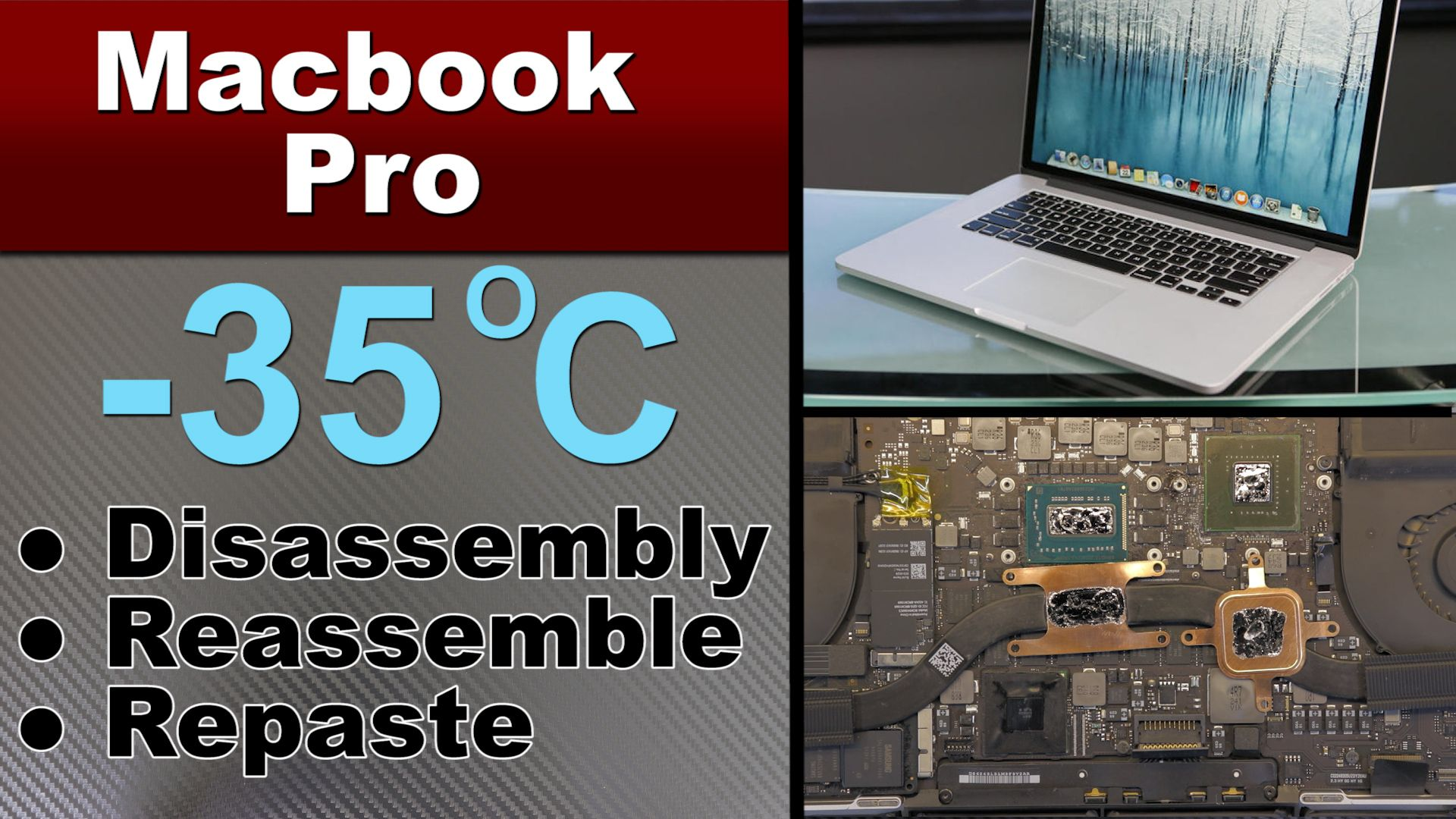 MacBook Pro A1398 Disassemble, Thermal Repaste Grizzly Liquid Metal