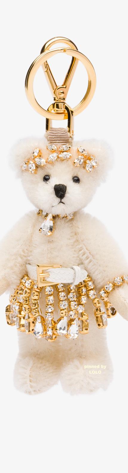 Prada Renee Fur Bear Charm Bijoux De Sac, Porte Clé, Pendentif, Accessoires, d6c300020d1