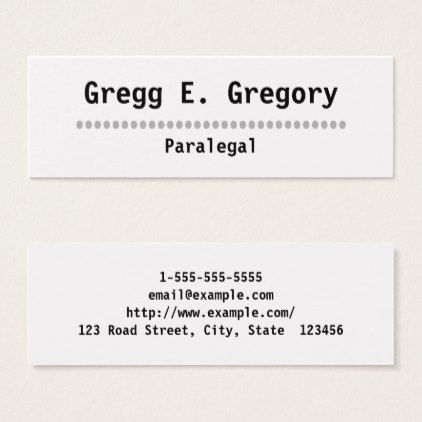 Simple professional paralegal business card paralegal business plain simple professional paralegal business card colourmoves