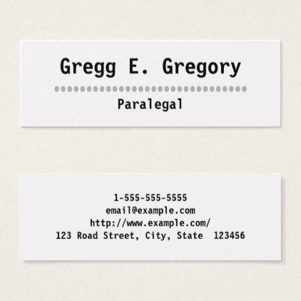 Simple professional paralegal business card paralegal business simple professional paralegal business card colourmoves