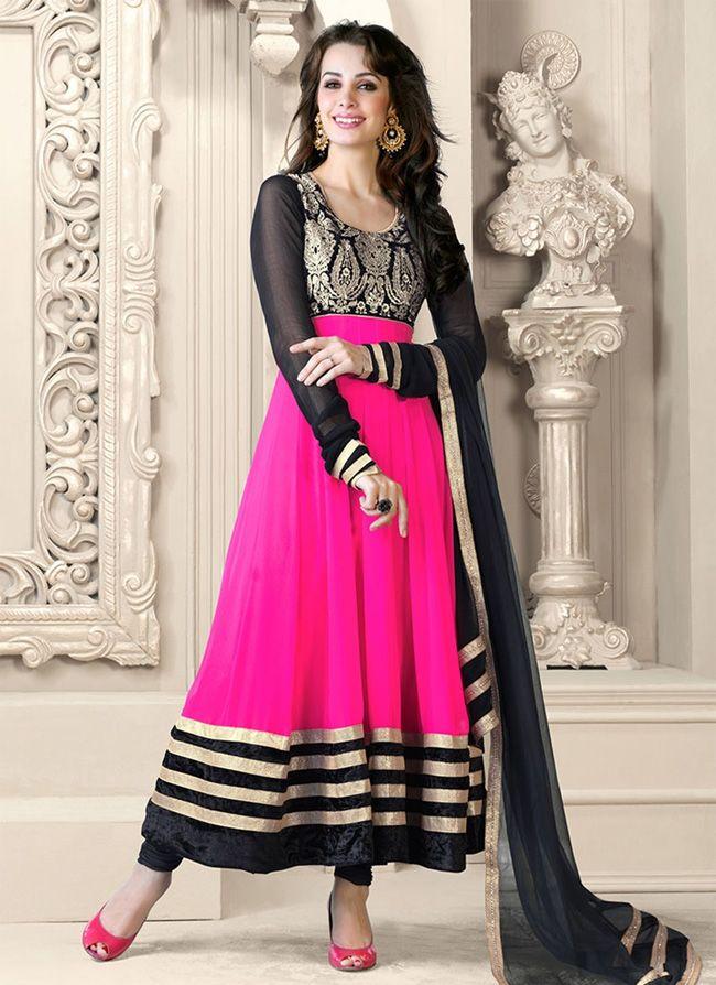 Designer Velvet Patch Anarkali Suit for Wedding | Fashion | Pinterest