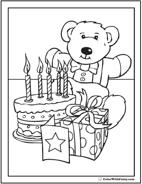 55 birthday coloring pages customizable pdf happy birthday teddy happy birthday grandma coloring pages bookmarktalkfo Images
