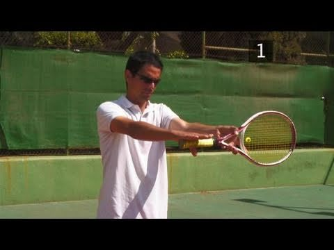 How To Dothe One Handed Backhand Grip Tennis Tips Tennis Grips Tennis