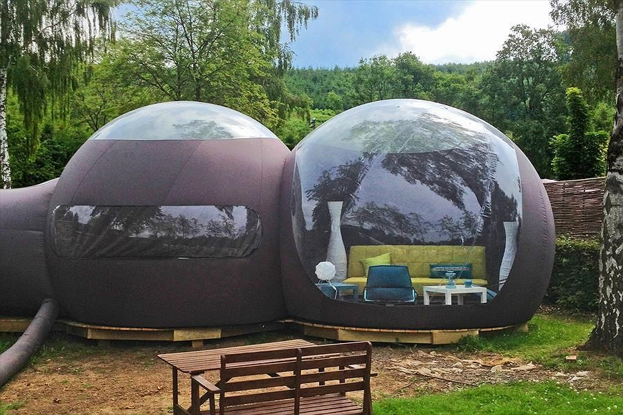 Inflatable Commercial Grade Two Room Pvc Clear Eco Dome