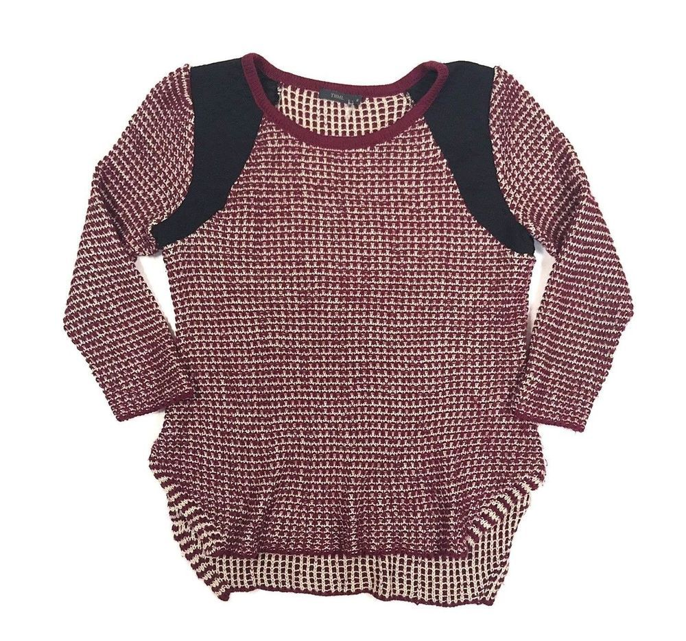 004439de462 THML Stitch Fix Womens M Knit Tunic Top Sweater Boho Patchwork Draped  Medium  fashion