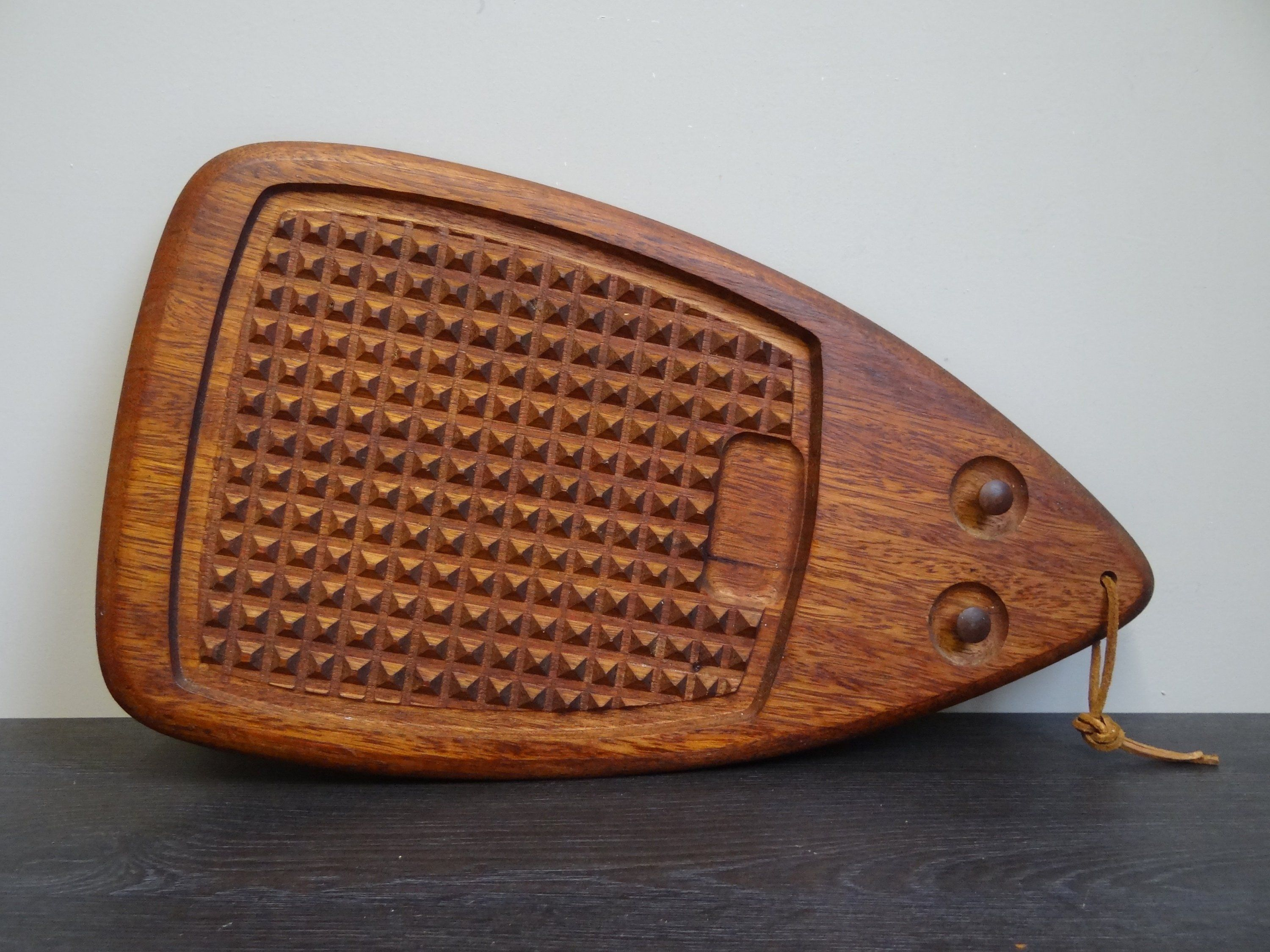 Teakholz Tablett Vintage Teak Servier Tray Danish Design Hedgehog Teak