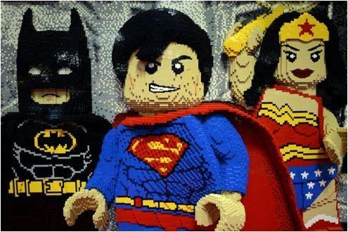 superman,batman en lego