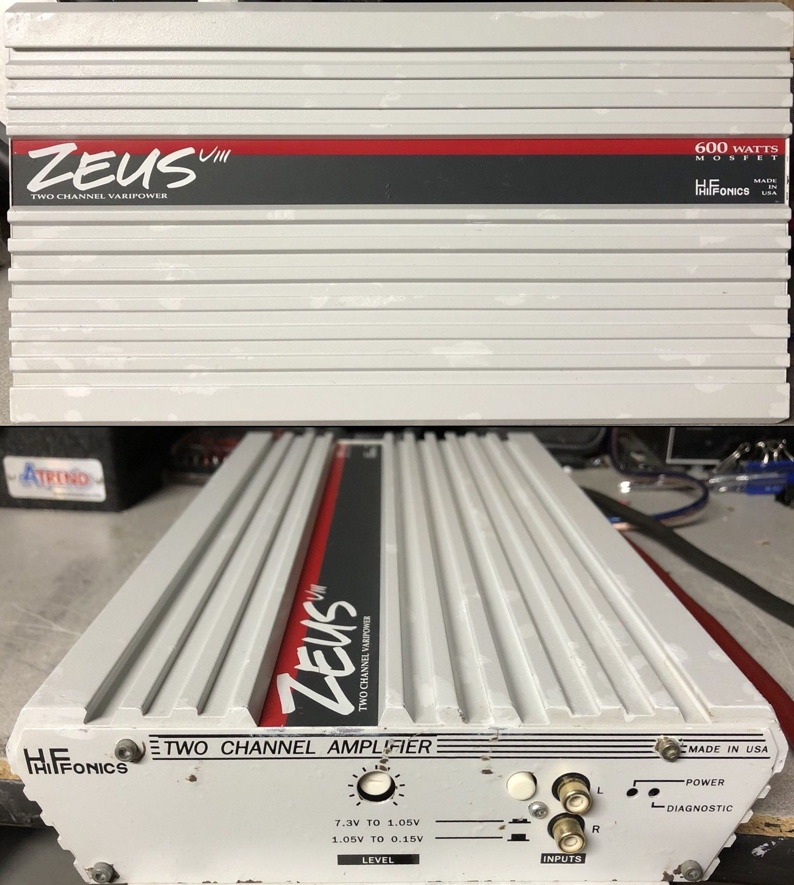 Hifonics Zeus VIII, 2 Channel 600 watt Amplifier. Made in ... on
