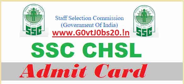 Ssc Chsl Admit Card 2018 10 2 Ldc Deo Hall Tickets Call Letter