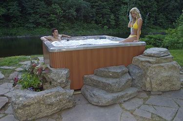 hot tub accessories storage steps and planters pools and outdoor entertainment pinterest. Black Bedroom Furniture Sets. Home Design Ideas