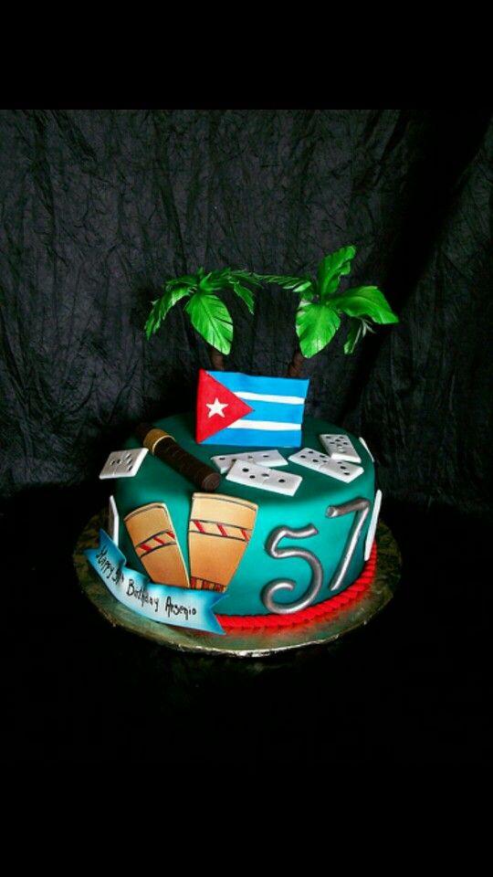 My husbands birthday cakeOld Cuban recipevanilla cake with