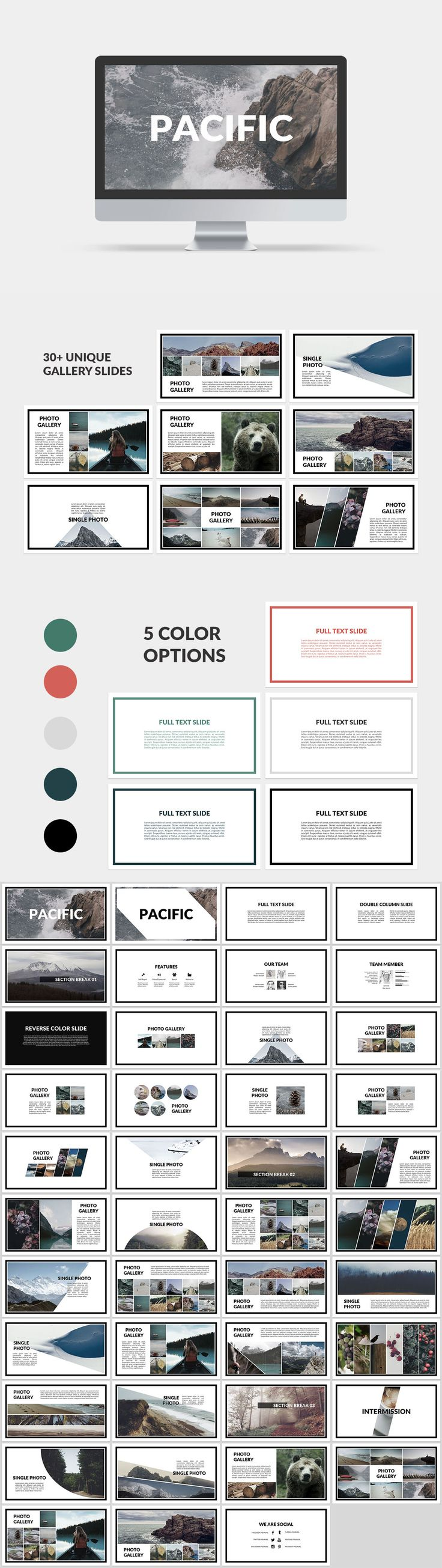 Pacific Presentation Template Selling Online Courses Ebooks For