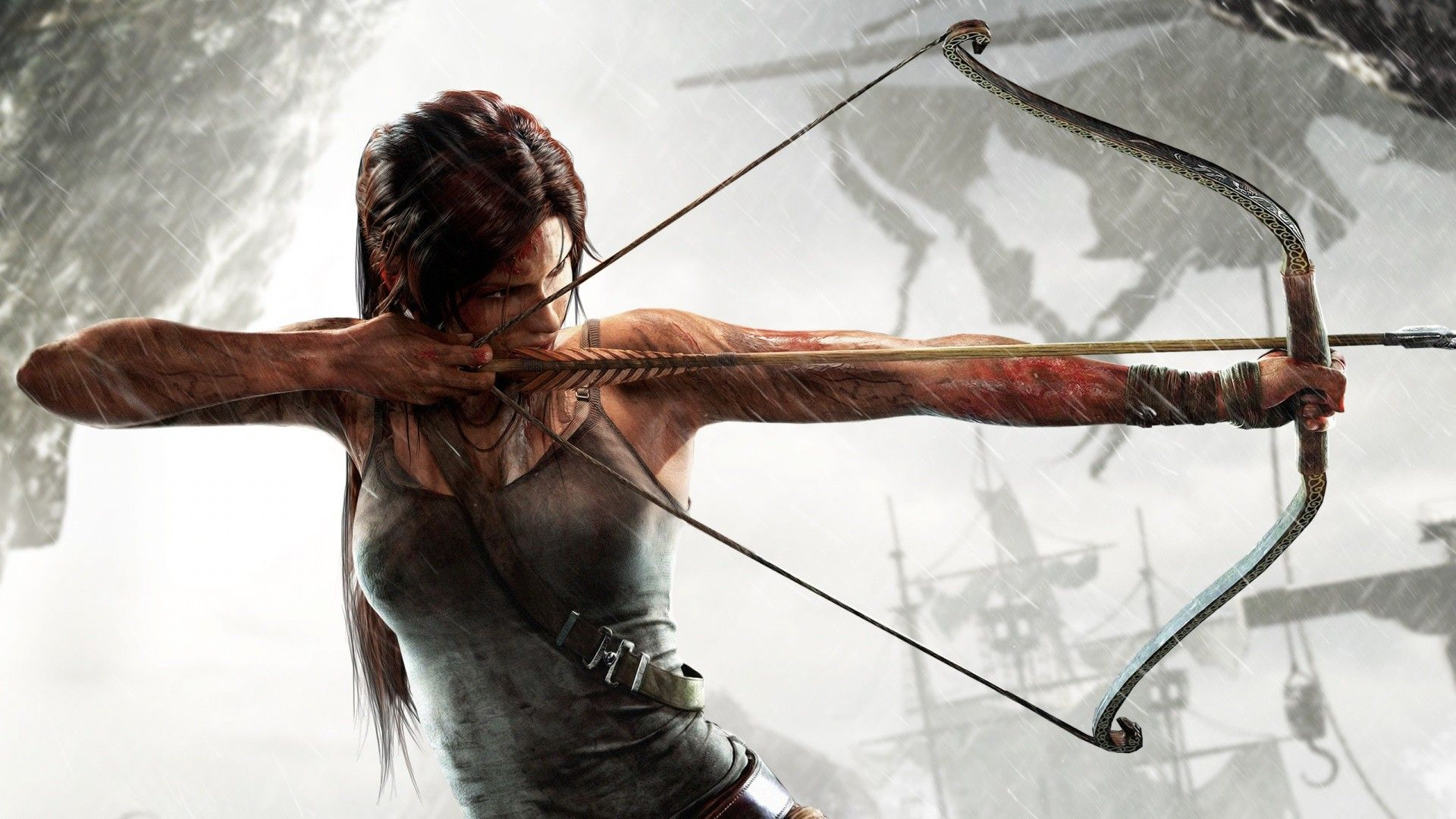 Lara Croft Bow Weapon Tomb Raider 2013 Wallpaper 2769417