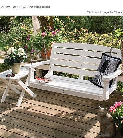 Little Cottage Company Classic 4ft Poly Lumber Porch Swing Porch Swing Home Garden Patio
