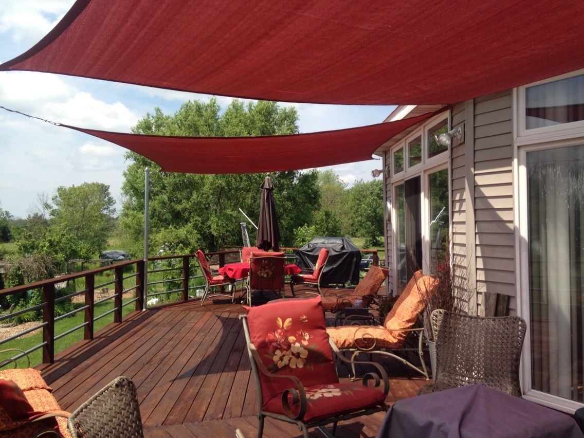 Shade sails from home depot backyard shade pinterest for Small patio shade ideas