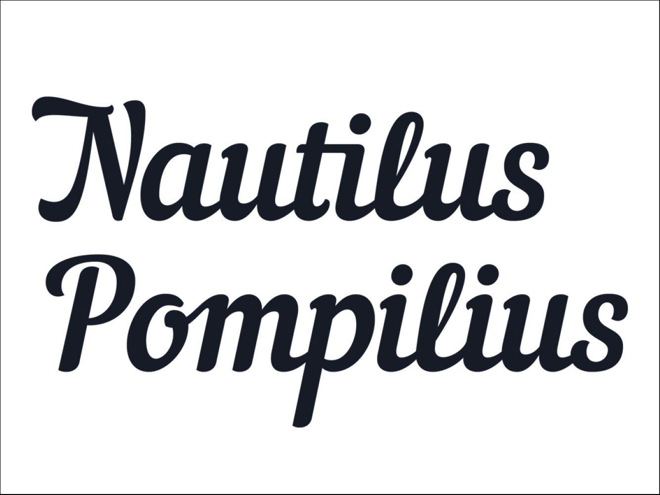 Nautilus Pompilius | Fonts | Шрифтове | Nautilus, Modern script font