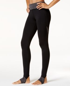 65d887a62a56d Gaiam Om Panel Barre Stirrup Leggings - Black | Products
