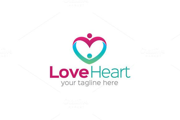 Check out Love Heart Logo by Brandin on Creative Market
