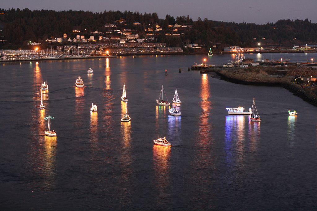 Christmas Ship Coos Bay 2020 Christmas Boat Parade, Yaquina Bay, Newport, Oregon | Oregon coast