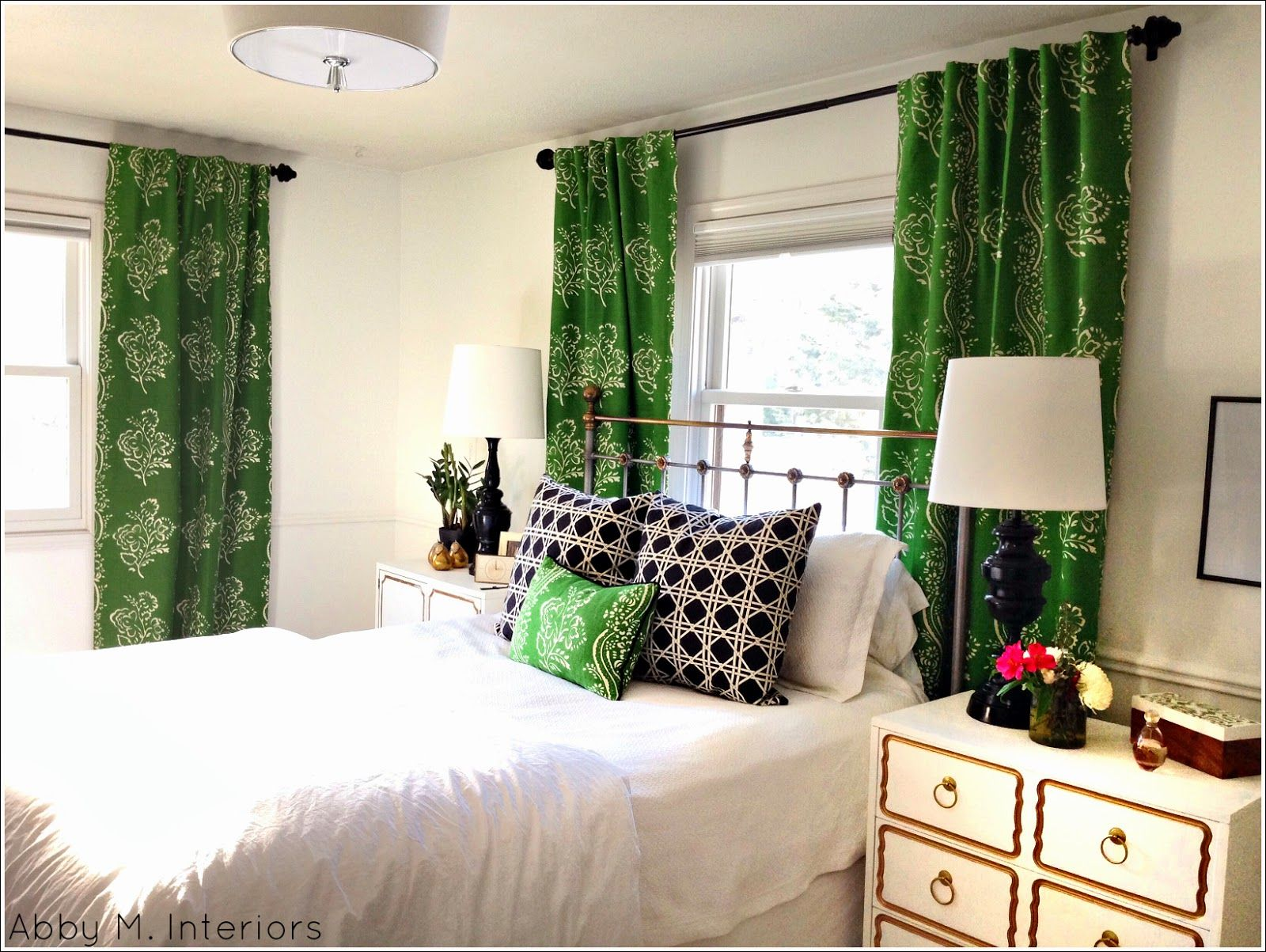 Gorgeous Master With Green Accessories Love It My Master Bedroom