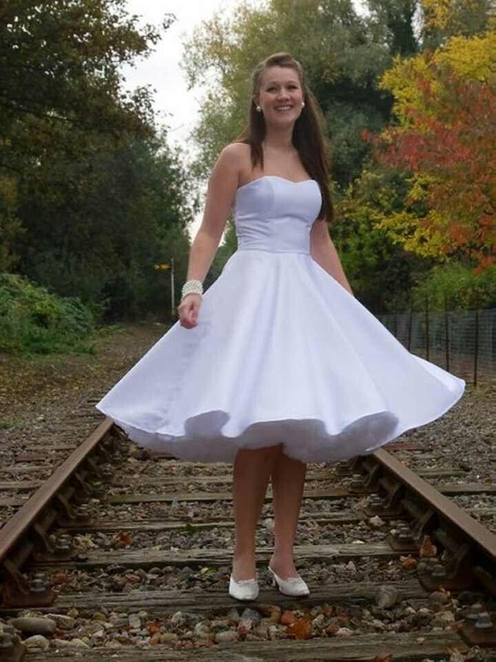 White dress big fluffy petticoat