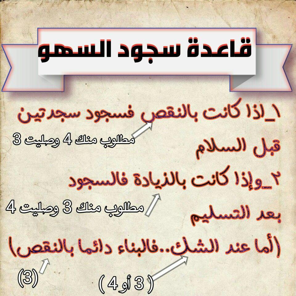 قلعدة سجود السهو Tajweed Quran Arabic Calligraphy Calligraphy