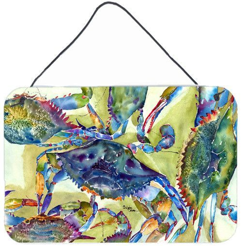 Crab All Over Aluminium Metal Wall or Door Hanging Prints