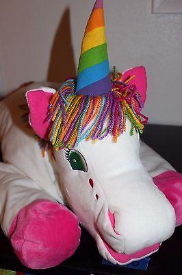 RARE HUGE Lisa Frank Markie 32 Inch Large Stuffed Plush Bean Bag Unicorn  VINTAGE b2eb0b3389a6
