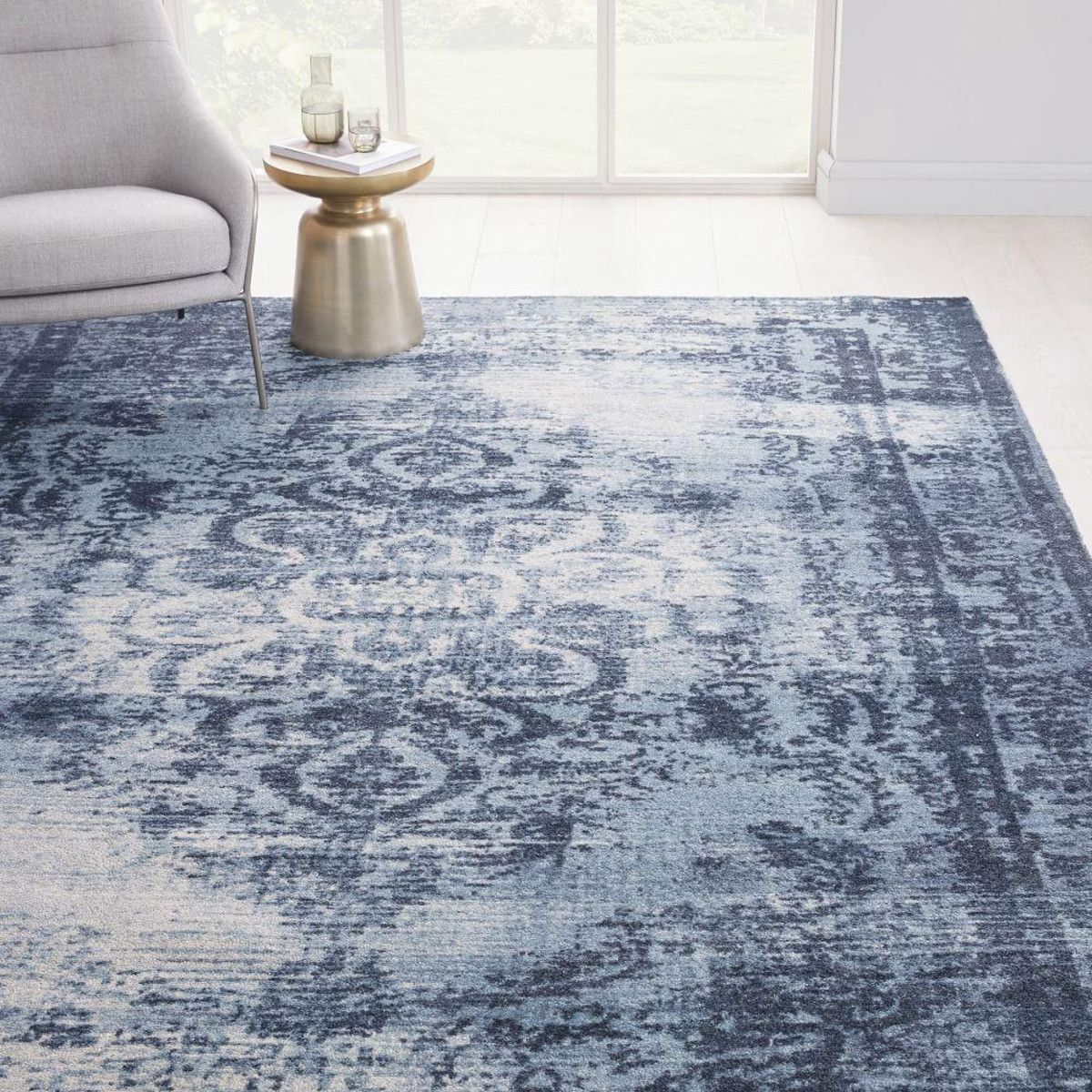 Distressed Arabesque Wool Rug In 2020