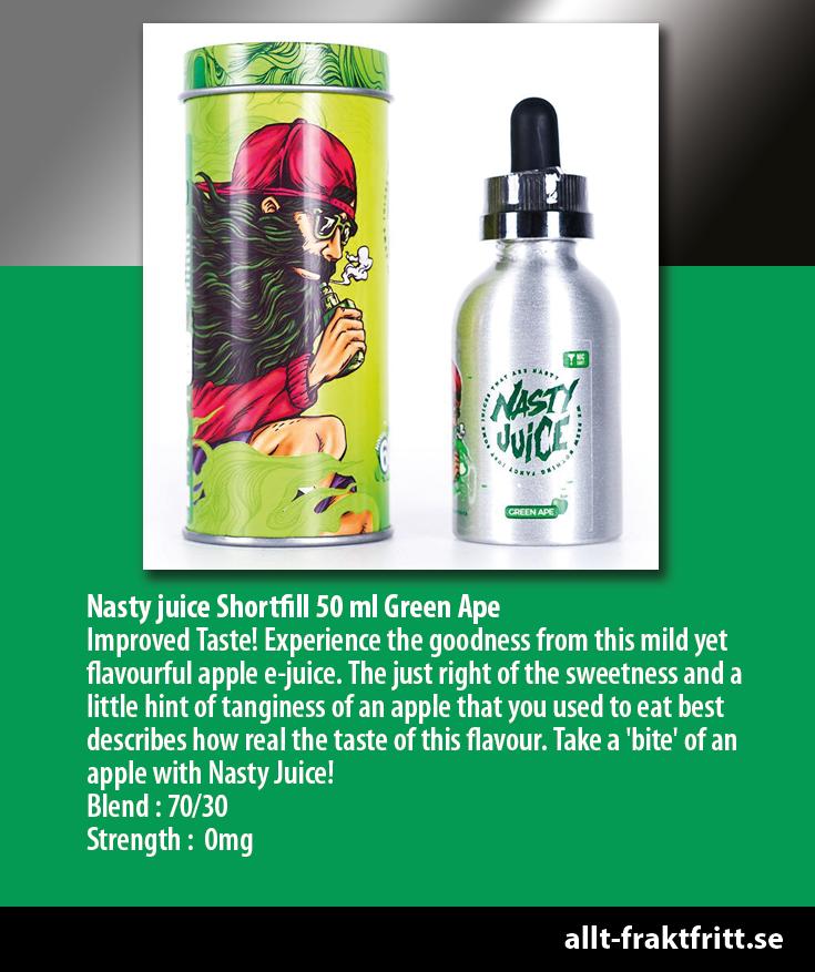 Nasty juice Shortfill 50 ml Green Ape Improved Taste