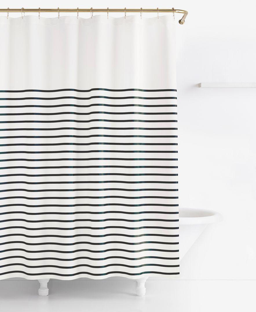 Kate Spade New York Harbour Stripe Shower Curtain Shower