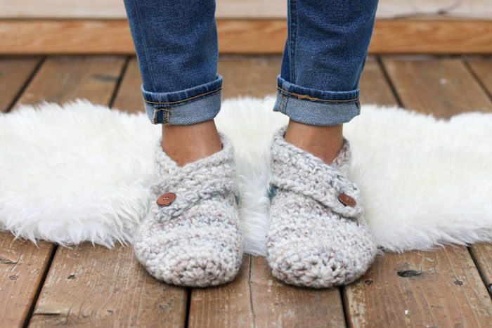 Stylish + Modern: Free Crochet Slippers Pattern for Women | Lana ...