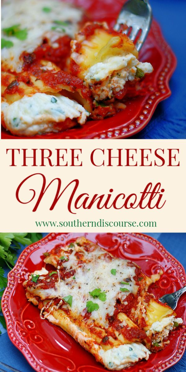Photo of Classic 3 Cheese Baked Manicotti – a southern discourse
