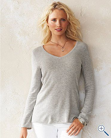 palest grey cashmere on white jeans