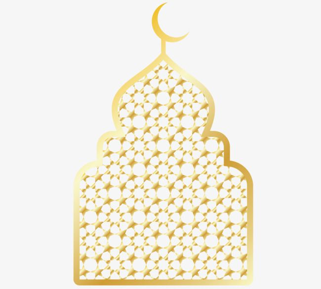 Golden Chancery Of Arabic Mosque Ramadan Eid Al Adha Gold Ramadan Eid Al Fitr Png And Vector With Transparent Background For Free Download Ramadan Mosque Mosque Vector